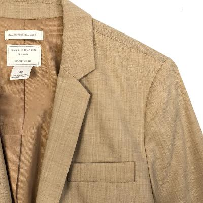 tailored collar one button jacket